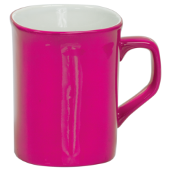 10 OZ PINK ROUNDED CORNER LASERMUGS