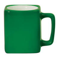 8 OZ GREEN SQUARE LASERMUGS