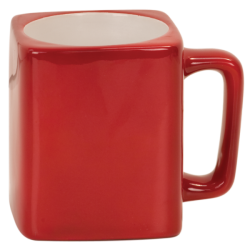 8 OZ RED SQUARE LASERMUGS