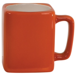 8 OZ ORANGE SQUARE LASERMUGS