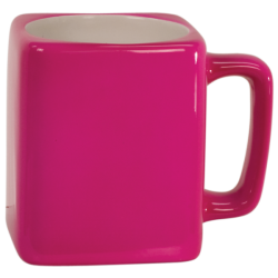 8 OZ PINK SQUARE LASERMUGS