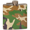 6 OZ CAMOUFLAGE STAINLESS STEEL FLASK