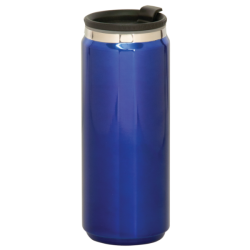 15 OZ BLUE STAINLESS STEEL CAN TRAVEL MUG