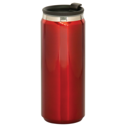 15 OZ RED STAINLESS STEEL CAN TRAVEL MUG