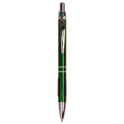 GLOSS GREEN BALLPOINT PEN WITH GRIPPER