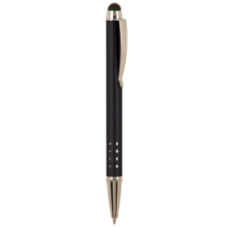 GLOSS BLACK BALLPOINT PENS WITH STYLUS