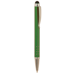 GLOSS GREEN BALLPOINT PENS WITH STYLUS