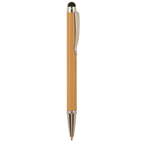 BAMBOO BALLPOINT PENS WITH STYLUS