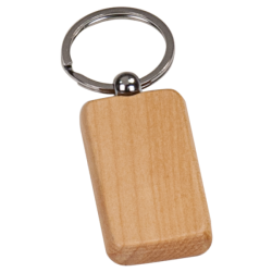 MAPLE RECTANGULAR WOODEN KEY CHAIN