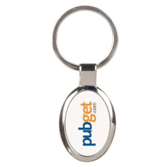 OVAL FULL COLOR METAL KEY CHAIN