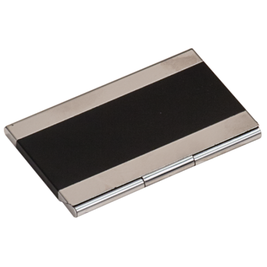 BLACK/SILVER BUSINESS CARD HOLDER