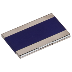 BLUE/SILVER BUSINESS CARD HOLDER