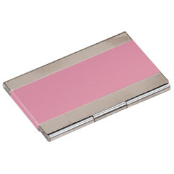 PINK/SILVER BUSINESS CARD HOLDER