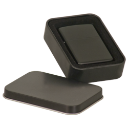 BLACK LIGHTER WITH BLACK TIN GIFT BOX