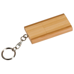 4GB FLIP STYLE BAMBOO FLASH DRIVE
