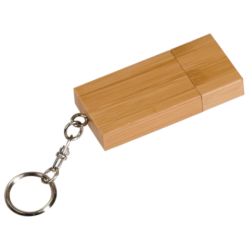 4GB SQUARE BAMBOO FLASH DRIVE