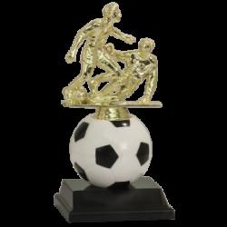 Soft Spinning Riser Soccer Trophy