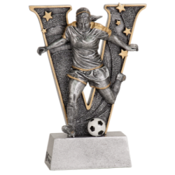 """v"" Female Soccer Resin"