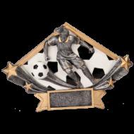 Diamond Star Female Soccer Resin