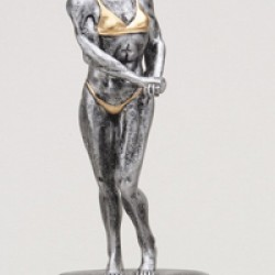 Resin Sculpture Body Building Trophy