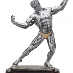 Resin Sculpture Body Builder Trophy