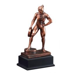 Resin Sculpture Female Bar In Hand Trophy