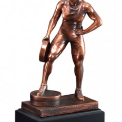 Resin Sculpture Female Bar In Hand Trophy
