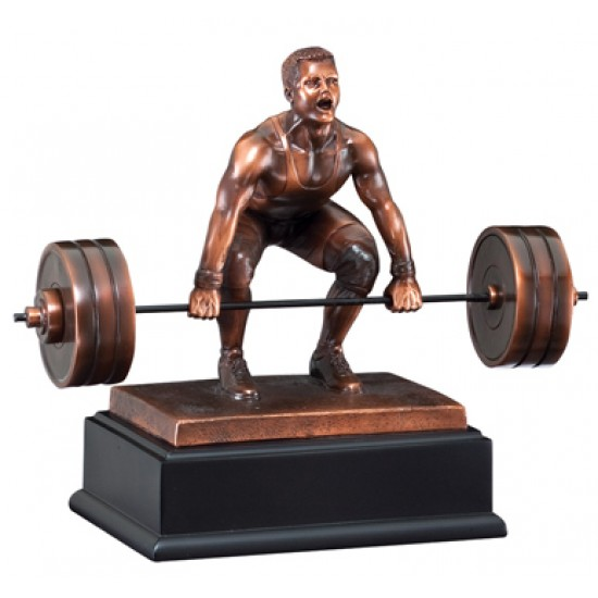 Resin Sculpture Dead Lift Trophy