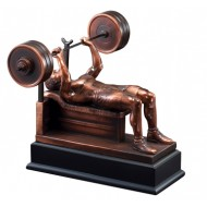 Resin Sculpture Male Bench Press Trophy