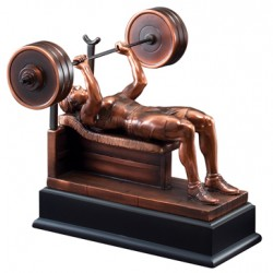 Resin Sculpture Female  Bench Press Trophy