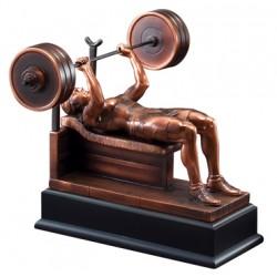 Resin Sculpture Female  Bench Press Trophy