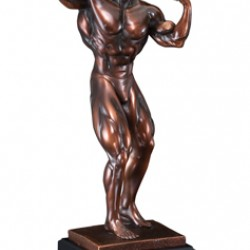 Resin Sculpture Male Body Builder Trophy