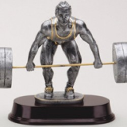 Resin Sculpture Dead Lift Trophy