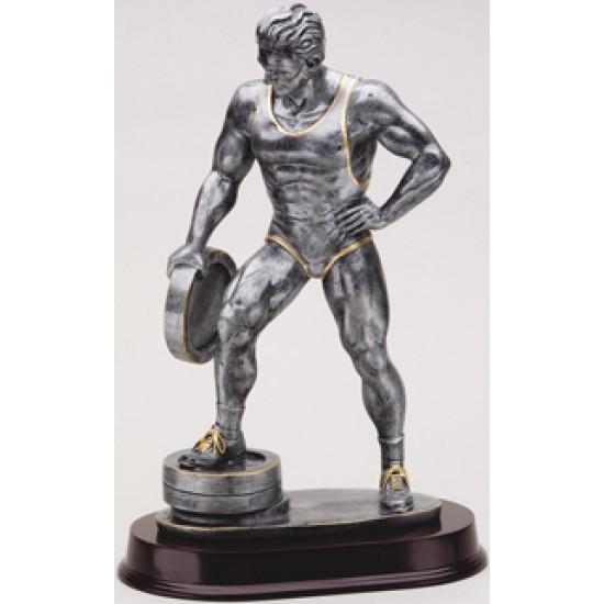 Resin Sculpture Weight Lifter Trophy