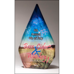 Sublimatable Diamond Acrylic Award