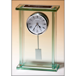 Large glass pendulum clock, three hand movement with white dial