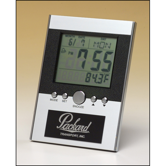 Multi-function clock with large LCD screen
