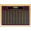 Roster Series perpetual plaque with rosewood piano-finish