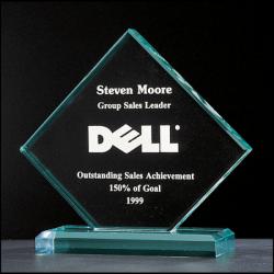 "Summit Series 3/4"" thick acrylic Diamond award on acrylic base"