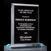 "Apex Series 3/4"" thick acrylic award on acrylic base"
