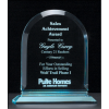 "Arch Series 3/4"" thick polished acrylic award on acrylic base"