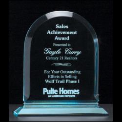 "Arch Series 3/4"" thick polished acrylic award on acrylic base"