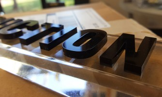 Glass effect Acrylic sign