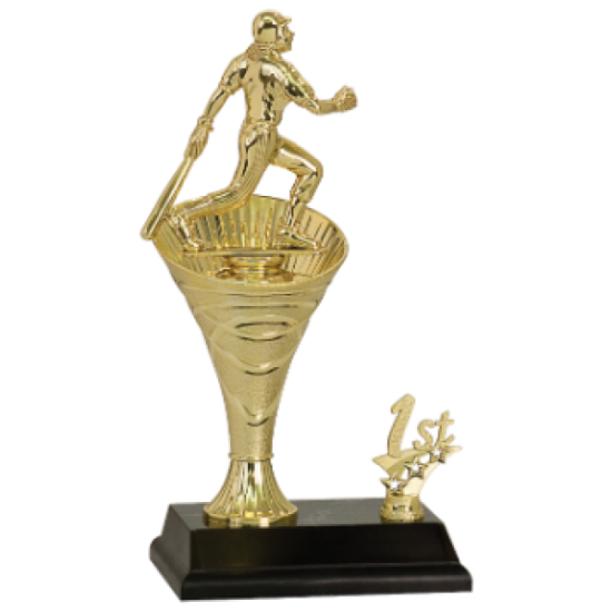 Rising Swirl Riser Softball Trophy