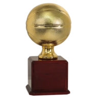 Large Gold Basketball Resin