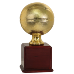 Large Gold Basketball Resin