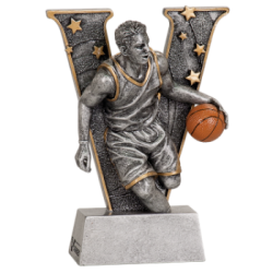 """v"" Male Basketball Resin"