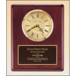 Rosewood stained piano finish vertical wall clock