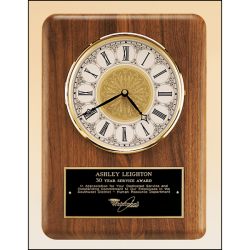 American walnut vertical wall clock