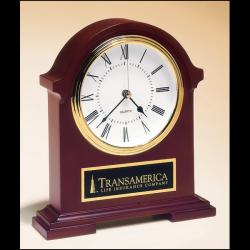 Napoleon Clocktraditional styling with deep,hand-rubbed mahogany finish
